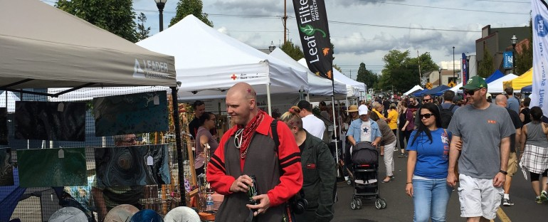 Tigard Street Fair – Ageless MirrorAthlete author Marc Woodard